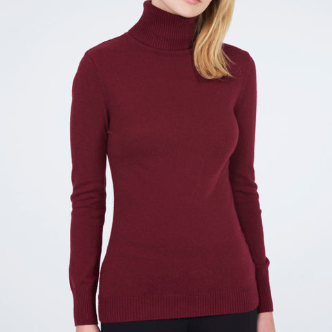 Polo Neck Jumper - Rouge