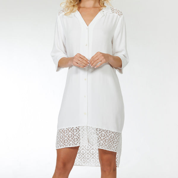 Crochet Shirt Dress
