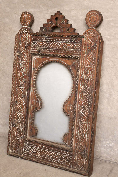 Moroccan Hand Carved Mirror 1