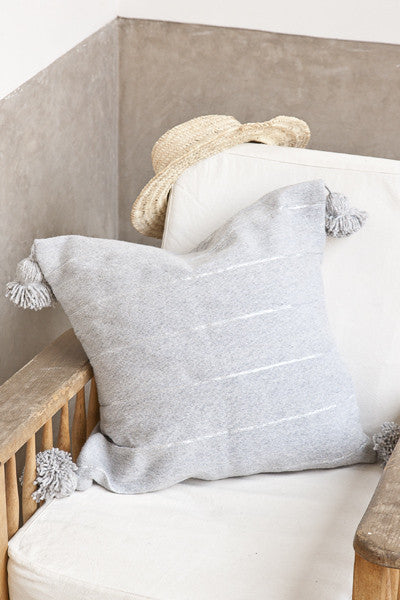 Cushion - Grey w/ Metallic Stripe