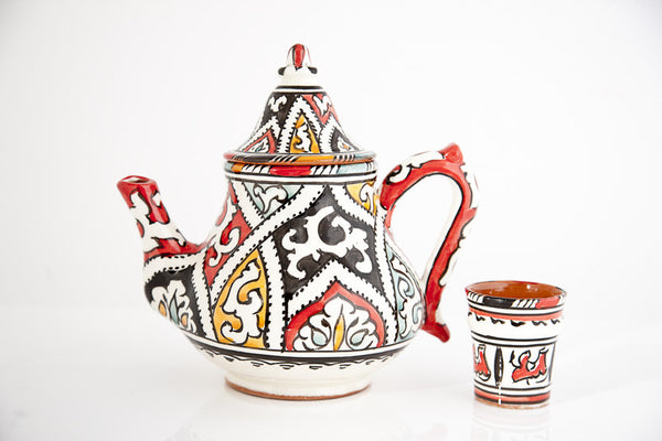 Black & Red Berber Tea Pot