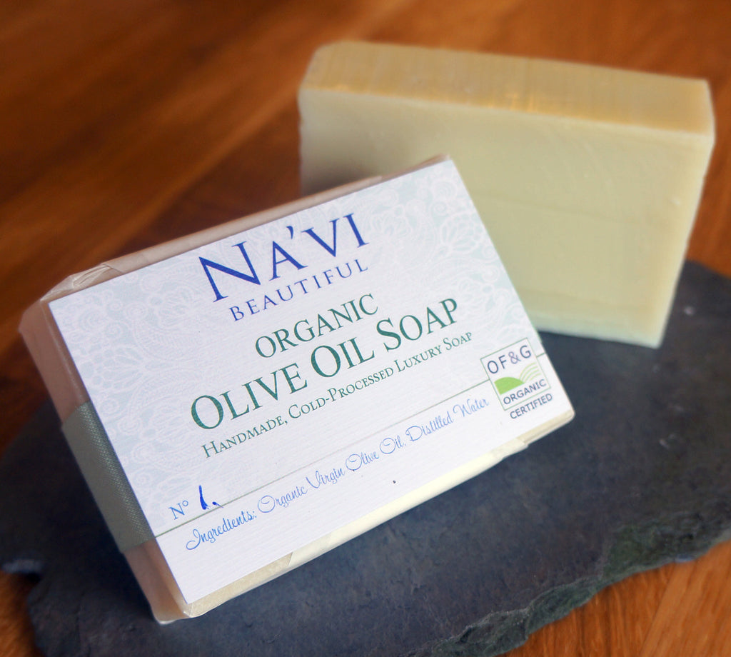 Organic Olive Oil Soap - Pure and Traditionally Cold Processed - Na'vi Organics Ltd