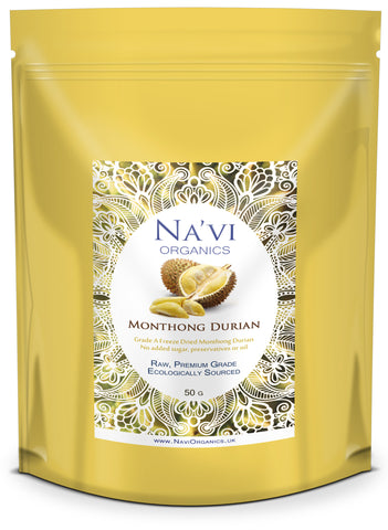 resealable bag of freeze dried Monthong Durian