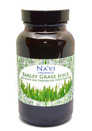 100 gram jar of Organic Barley Grass Powder