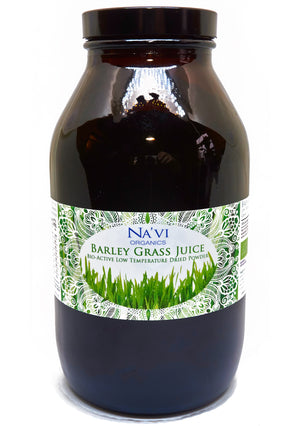 500g jar of Organic Barley Grass Powder