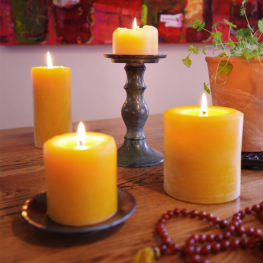 Pure Beeswax Candles (Various Sizes)