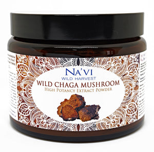 225 gram jar of Chaga Mushroom extract tonic herb powder