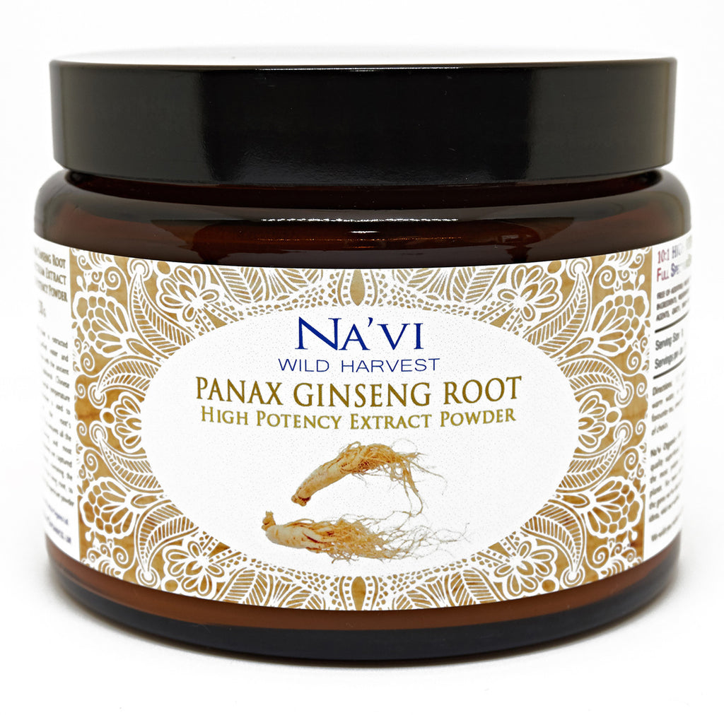 Full Spectrum Panax Ginseng Root Extract Powder - Superior Quality - Na'vi Organics Ltd