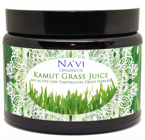 250 gram jar of Organic Raw Kamut (Wheat) Grass juice powder