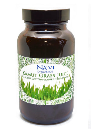 100 gram jar of Organic Raw Kamut (Wheat) Grass juice powder
