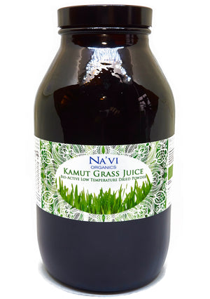 500 gram jar of Kamut Wheatgrass