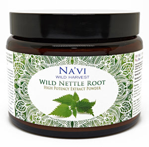 250 gram jar of wild harvested nettle root extract powder