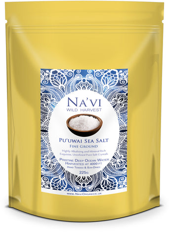 Pu'uwai Deep Ocean Hawaiian Sea Salt - Finely Ground - Na'vi Organics Ltd