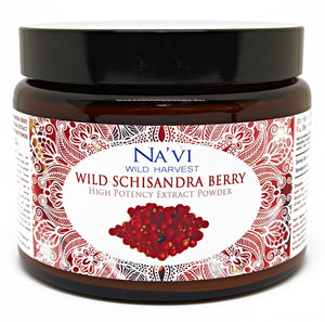 225 gram jar of wild schisandra berry extract superfood powder
