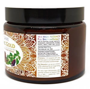 Tonic Gold - Herbal Coffee -  Immune Boosting Antioxidant Elixir - Na'vi Organics Ltd