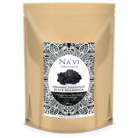 Organic 'Shahtoot' Black Mulberries - Na'vi Organics Ltd