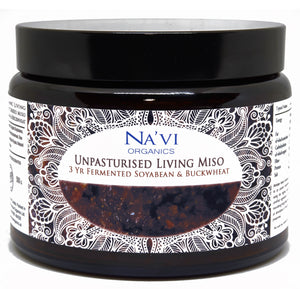 Organic Buckwheat & Soybean - Unpasteurised Living Miso (500g) - Na'vi Organics Ltd