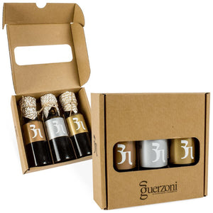 Podium Selection Balsamic Vinegar of Modena Gift Box - Organic and Biodynamic Certified - 3 x 100ml Bottles