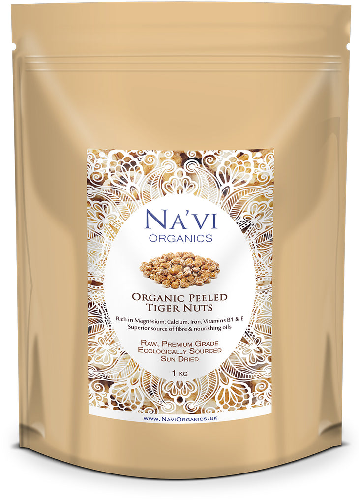 Organic Peeled Tiger Nuts - Na'vi Organics Ltd