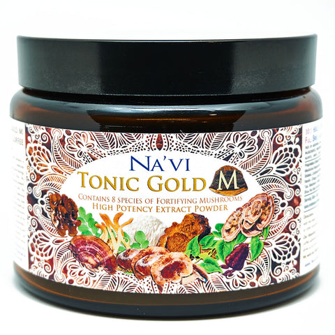 Tonic Gold M - Herbal Coffee - Medicinal Mushroom Elixir - Immune Boosting Antioxidant