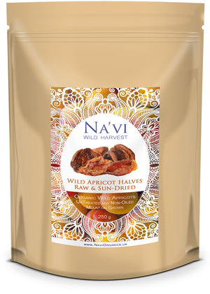 Wild Mountain Apricot Halves - Na'vi Organics Ltd