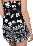 Wink Gal Women's Tribal Coachella Spaghetti Straps Elephant Printed Rompers