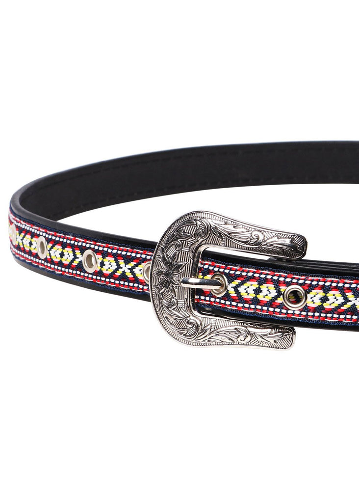 Wink Gal Women's Concho Thin Band Western Buckle Belt