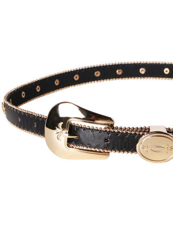 Wink Gal Women's Star Studded Western Buckle Belt For Jeans