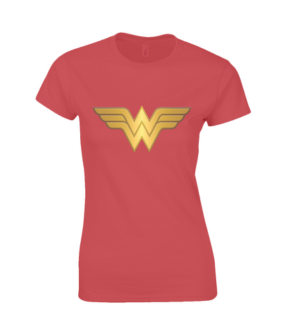WW Logo Ladies Fitted Ringspun T-Shirt-Geeks Buy Gadgets