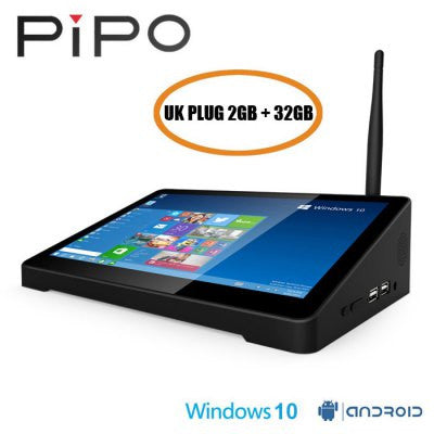 PIPO X9 TV Box 8.9 inch Tablet Mini PC - UK PLUG 2GB+32GB-Geeks Buy Gadgets