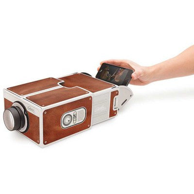Cardboard Mobilephone Projector 2.0 - BROWN-Geeks Buy Gadgets