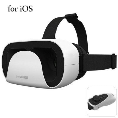 3D VR Glasses Virtual Reality Headset with Controller Distance for iOS - WHITE-Geeks Buy Gadgets
