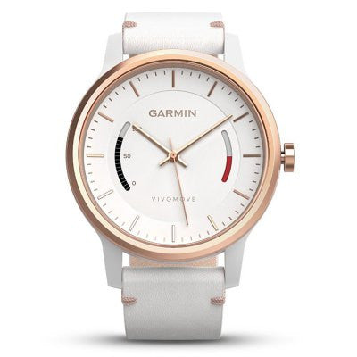 Garmin Vivomove Smartwatch for iPhone - CLASSICAL STYLE WHITE-Geeks Buy Gadgets