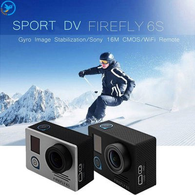 FIREFLY 6S 4K WiFi Sport HD DV Camera - BLACK-Geeks Buy Gadgets