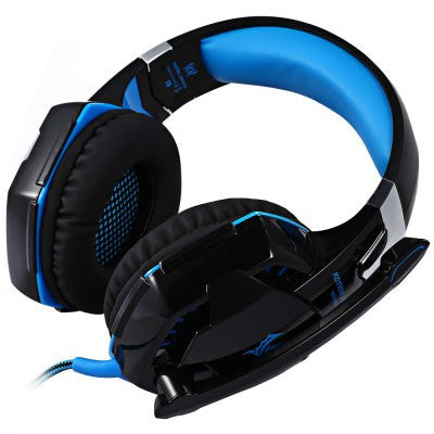 USB and Audio Jack Dual Input Gaming Headset Stereo Headphone - Blue-Geeks Buy Gadgets