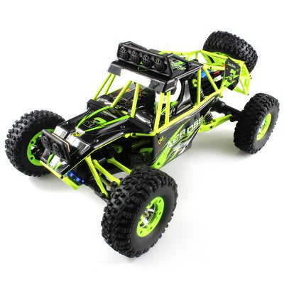 1 / 12 Scale 2.4GHz 4WD Off Road Vehicle with LED Light - BLACK AND GREEN-Geeks Buy Gadgets