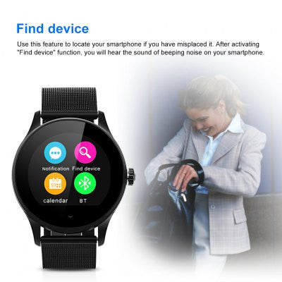 Excelvan K88H Smart Watch Pedometer - BLACK-Geeks Buy Gadgets