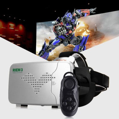 RITECH Riem III Virtual Reality 3D Glasses - BLACK AND SILVER-Geeks Buy Gadgets