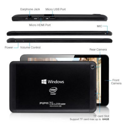 PIPO Windows 8.1 Intel Dual Cameras External 3G Tablet PC-Geeks Buy Gadgets