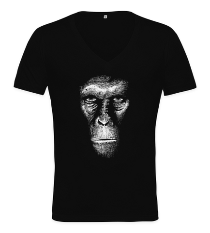 Evil Monkey Deep V Neck T Shirt-Geeks Buy Gadgets