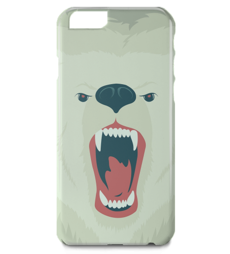 Fierce Polar Bear iPhone Case-Geeks Buy Gadgets