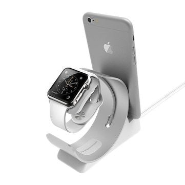 2 in 1 Aluminum Alloy Charging Stand Holder for Apple iWatch iPhone-Geeks Buy Gadgets