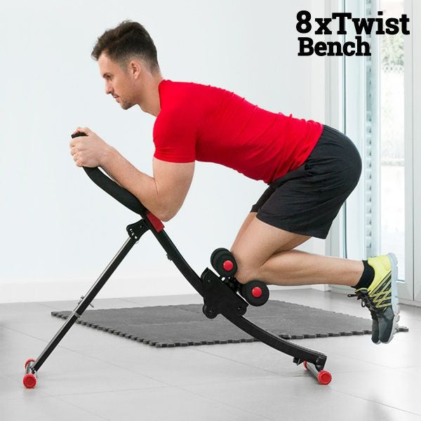 8X TWIST BENCH AB CRUNCH MACHINE-Geeks Buy Gadgets