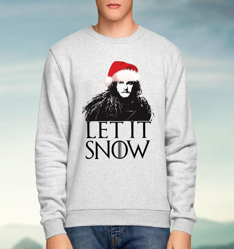 Game of Thrones - Let it Snow - Sweatshirt-Geeks Buy Gadgets
