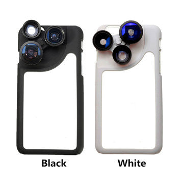 4in1 Plastic Phone Camera Lens Dial Case For iPhone 6 4.7 Inch-Geeks Buy Gadgets