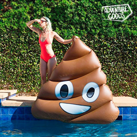 ADVENTURE GOODS POO EMOTION INFLATABLE MATTRESS-Geeks Buy Gadgets