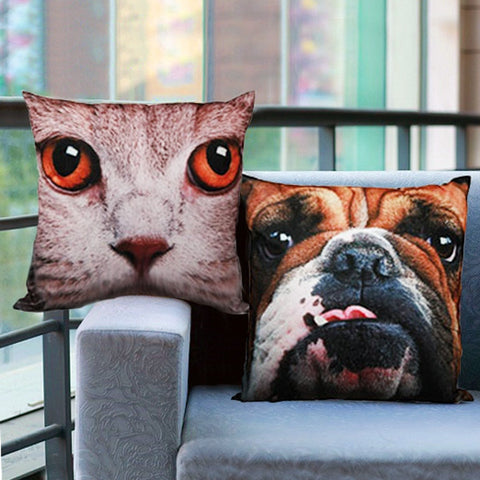 CATS AND DOGS CUSHION-Geeks Buy Gadgets