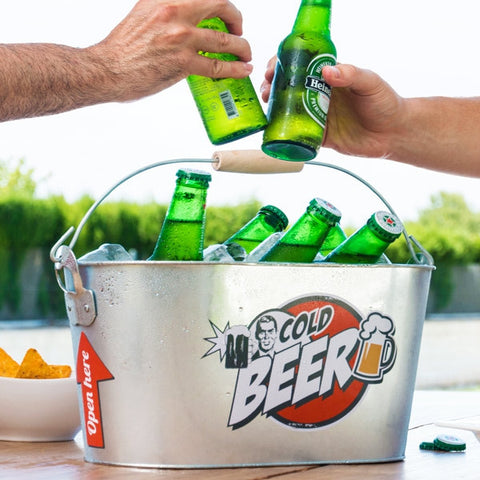 VINTAGE METAL DRINKING BUCKET FOR COLD BEER-Geeks Buy Gadgets