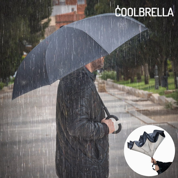 COOLBRELLA REVERSE FOLDING UMBRELLA-Geeks Buy Gadgets