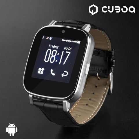 CUBOQ LEATHER SMARTWATCH-Geeks Buy Gadgets